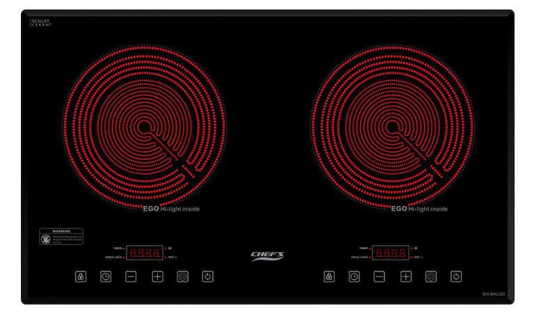 Bếp hồng ngoại đôi cảm ứng Chef's EH-DHL321