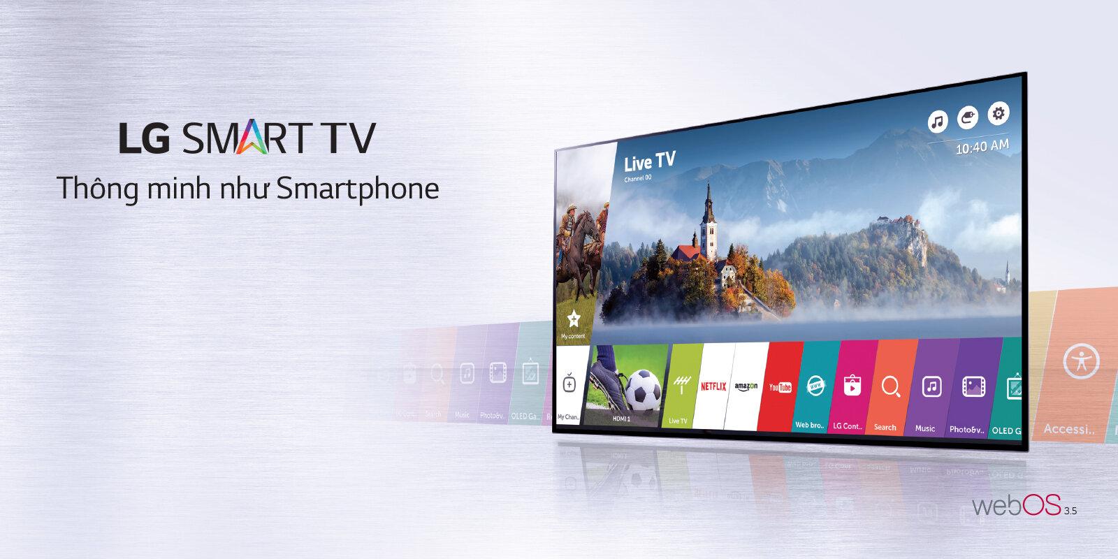 Trình duyệt web của smart tivi LG rất dễ sử dụng