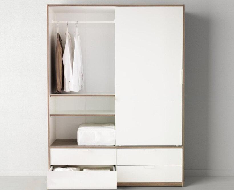 Tủ quần áo có thiết kế lấy cảm hứng từ các thiết kế tinh tế và sang trọng của Pháp
