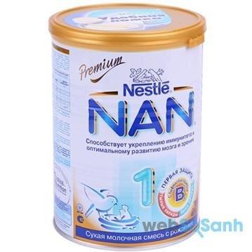 Sữa bột Nan Nga khá phù hợp cho các bé sinh mổ