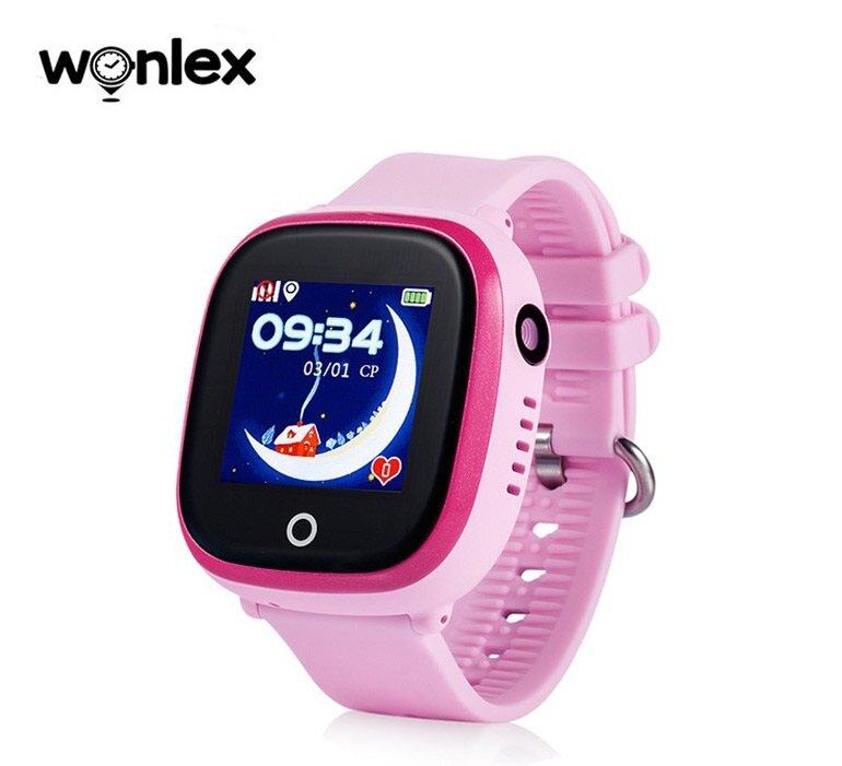 Đồng hồ Wonlex màu hồng nữ tính với thiết kế dây đep có lỗ thoát khí mát mẻ