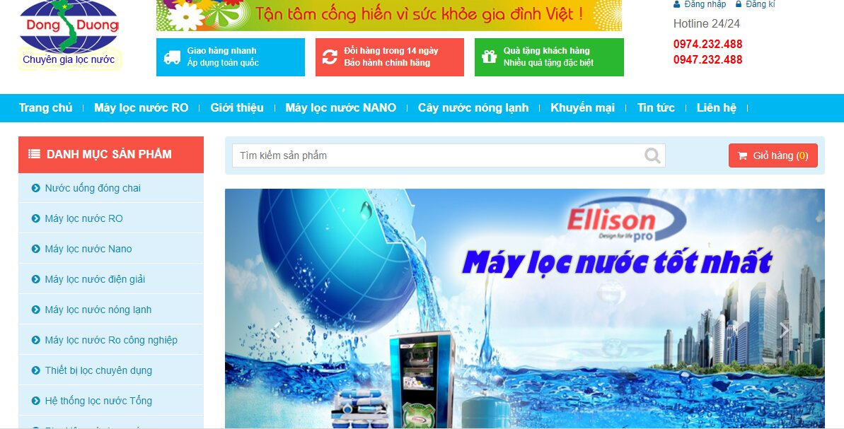 thegioinuoc máy lọc nước nano ellison