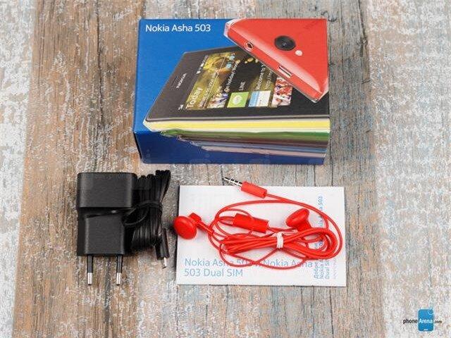 Bộ phụ kiện chuẩn bán kèm theo Nokia Asha 503