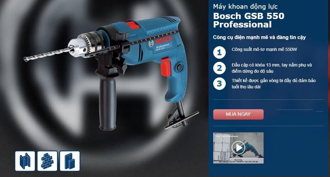 Bosch GSB 550 550W