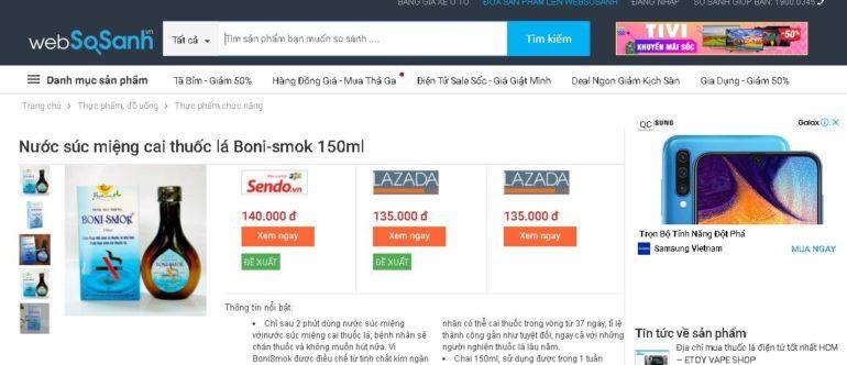 Giá boni-smok 150ml bao nhiêu tiền ?