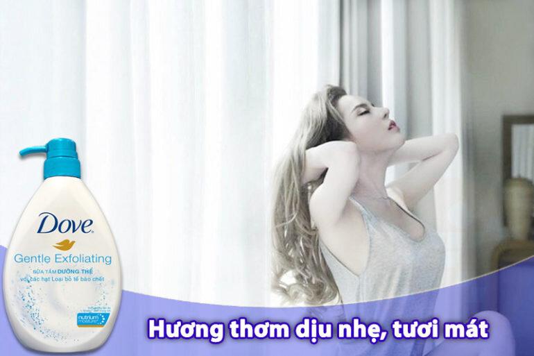 Sữa tắm Dove tẩy da chết Gentle Exfoliating