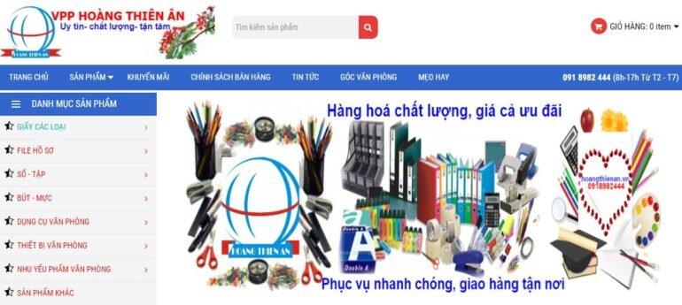 Hoàng Thiên Ân - địa chỉ cung cấp sỉ lẻ các loại giấy in, photocoppy, thiết bị văn phòng ngành văn phòng phẩm uy tín, chất lượng nhất tại thành phố Hồ Chí Minh