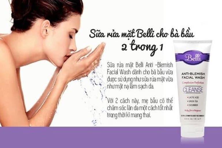Sữa rửa mặt cho bà bầu Belli Anti-Blemish Facial Wash