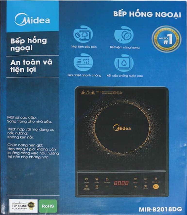 Bếp hồng ngoại Midea MIR-B2018DG