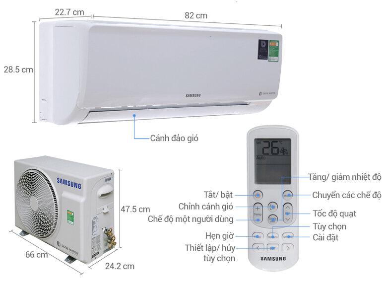 Điều hòa Samsung inverter 9000 btu ar10mvfhgwknsv