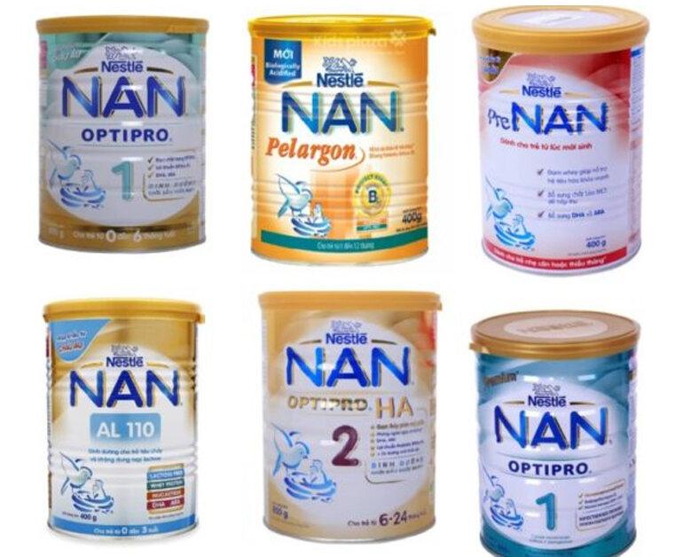 Các loại sữa nan cho trẻ sơ sinh