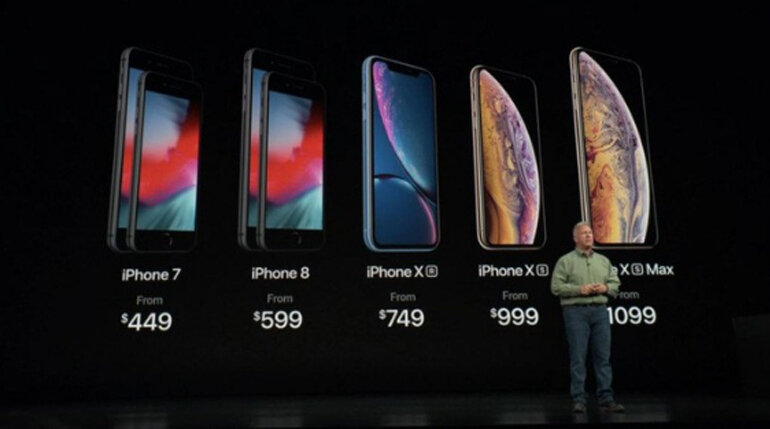 giá iPhone XR, iPhone XS, iPhone XS Max,...