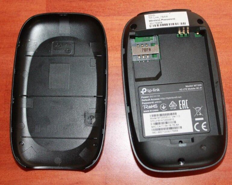 Cấu tạo bộ phát wifi di động TP-Link M7200