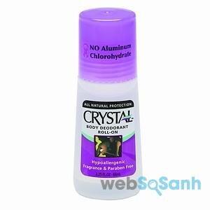 lăn khử mùi không muối nhôm crystal
