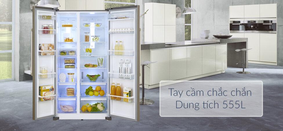 Tủ lạnh side by side Panasonic dung tích 555L phù hợp với nhu cầu của nhiều gia đình