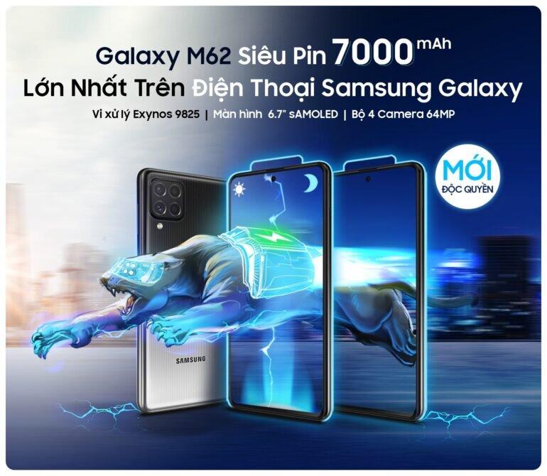 Điện thoại Samsung Galaxy M62