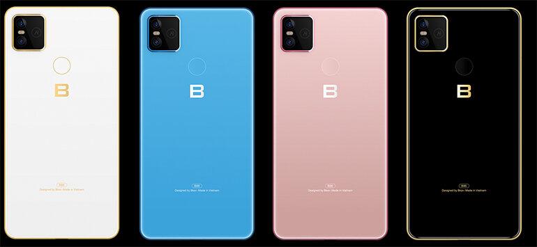 các màu sắc trên điện thoại bphone b86