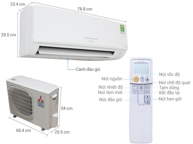 Máy lạnh Mitsubishi MSY-GH13VA