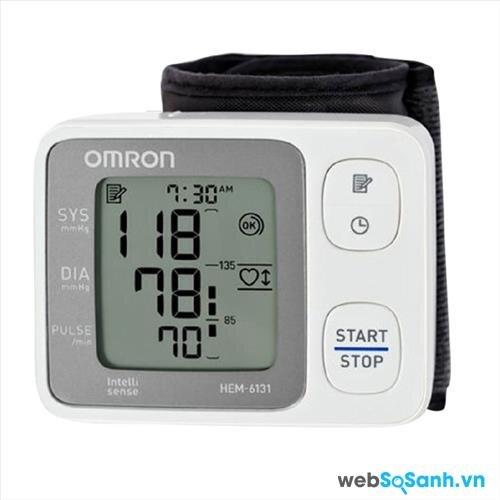 Máy đo huyết áp cổ tay Omron tốt nhất năm 2016: máy đo huyết áp Omron 6131