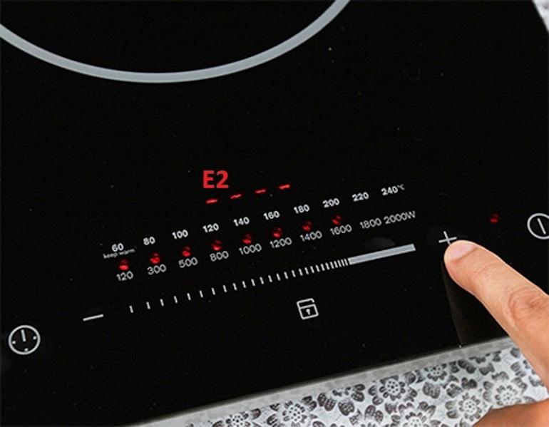 Cách xử lý cơ bản khi bếp hồng ngoại báo lỗi E2
