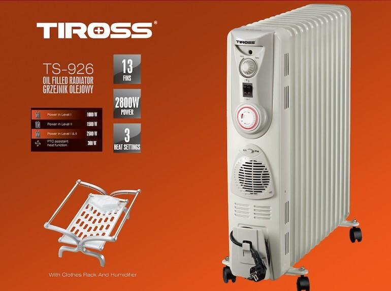 Máy sưởi dầu Tiross TS-926