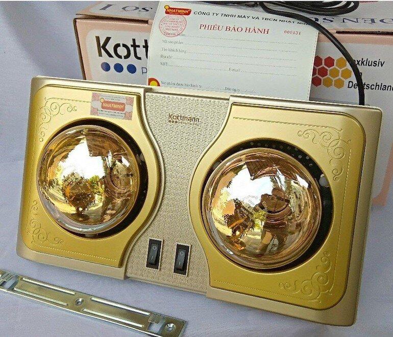 Đèn sưởi Kottmann 2 bóng K2BH