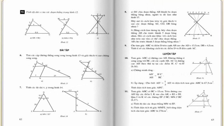 Lưu tâm tới kiến thức của sách giáo khoa toán 8 tập 2