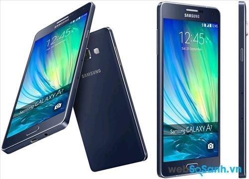 Không chỉ sở hữu thiết kế kim loại nguyên khối. Galaxy A7 còn ấn tượng bởi độ mỏng 6.3 mm