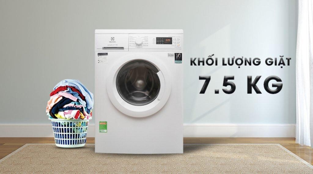 Máy giặt Electrolux với khối lượng giặt 7,5kg