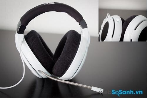 Cận cảnh headband, ốp tai và mic