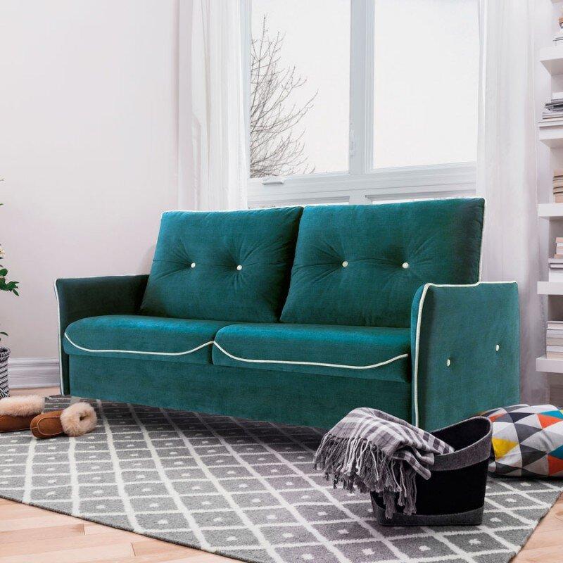 Màu xanh đơn giản khiến không gian thêm phần sang trọng