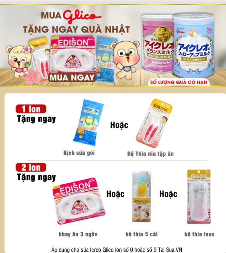 Chương trình khuyến mại dành cho sữa Icreo Glico