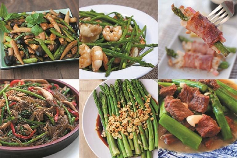 Măng tây là thực phẩm mũi nhọn của Dũng Hà