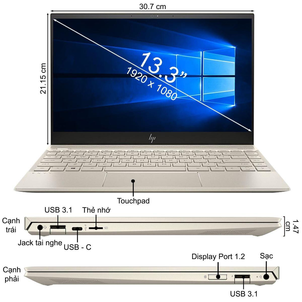 Laptop HP Envy 13-aq0032TX 6ZF26PA