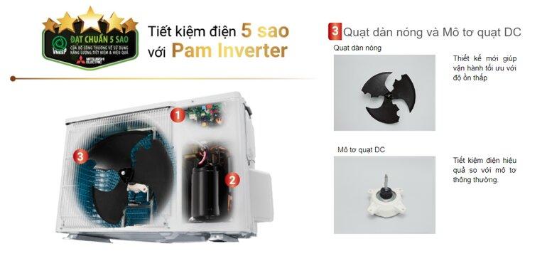 Điều hòa mitsubishi electric 12000btu 1 chiều inverter có tiết kiệm điện không
