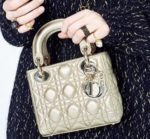 Mini Lady Dior Gold Bag