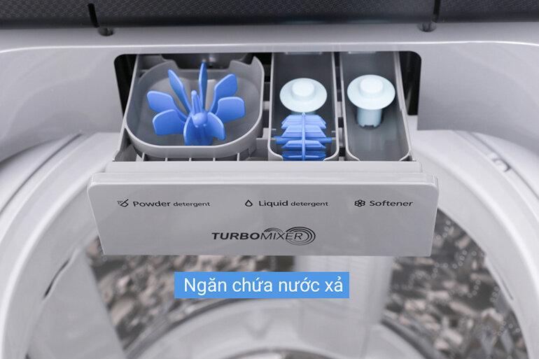 Thiết kế khay đựng xà phòng và nước xả thông minh của Panasonic NA-F100V5LRV