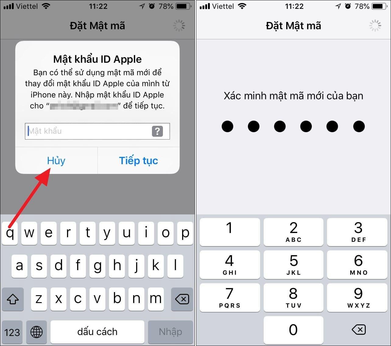 Trường hợp iPhone yêu cầu đổi mật khẩu máy