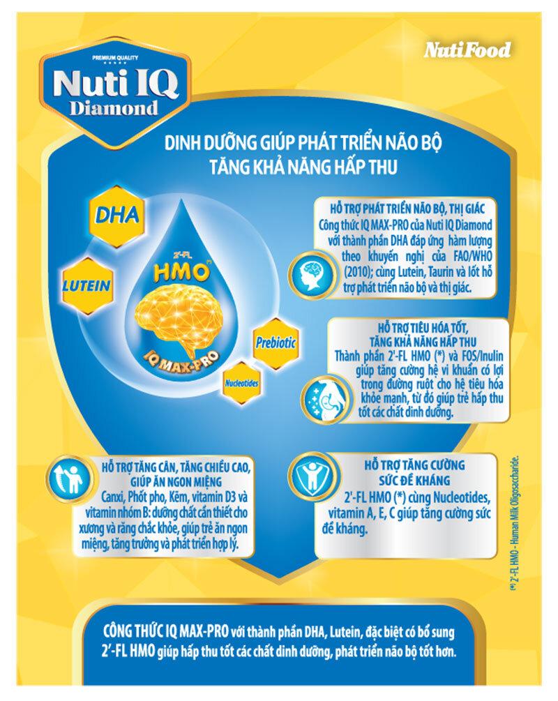 Nuti IQ Diamond hỗ trợ bé phát triển toàn diện