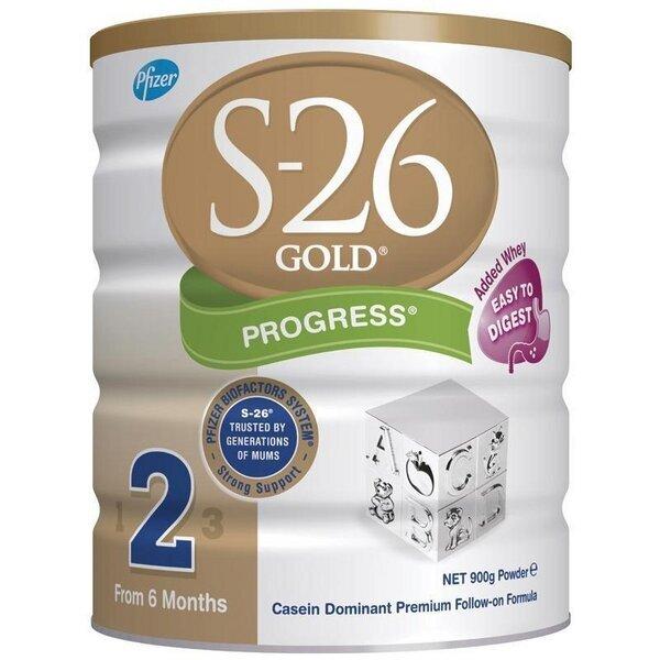 Sữa bột S-26 Gold Progress 2 - hộp 900g (dành cho trẻ từ 6 - 12 tháng)