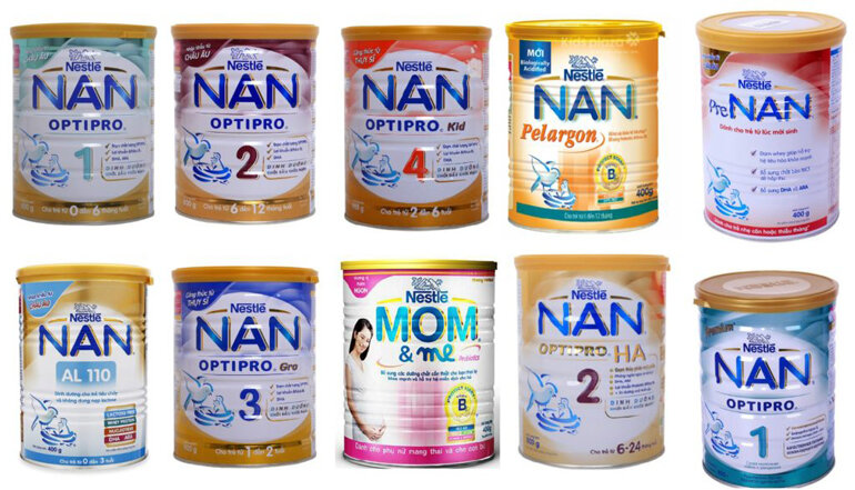Sữa công thức NAN có nhiều loại