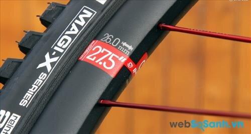 Vành xe đạp leo núi càng lớn thì xe đi sẽ dễ dàng và ổn định hơn