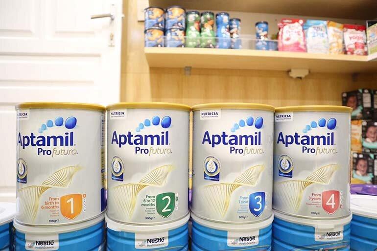 Aptamil là sữa mát, hỗ trợ tốt cho hệ tiêu hóa của trẻ