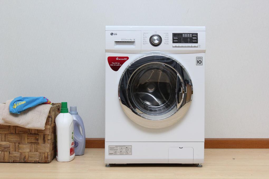 Máy giặt LG loại 8kg phù hợp với nhu cầu sử dụng của đại đa số gia đình hiện nay