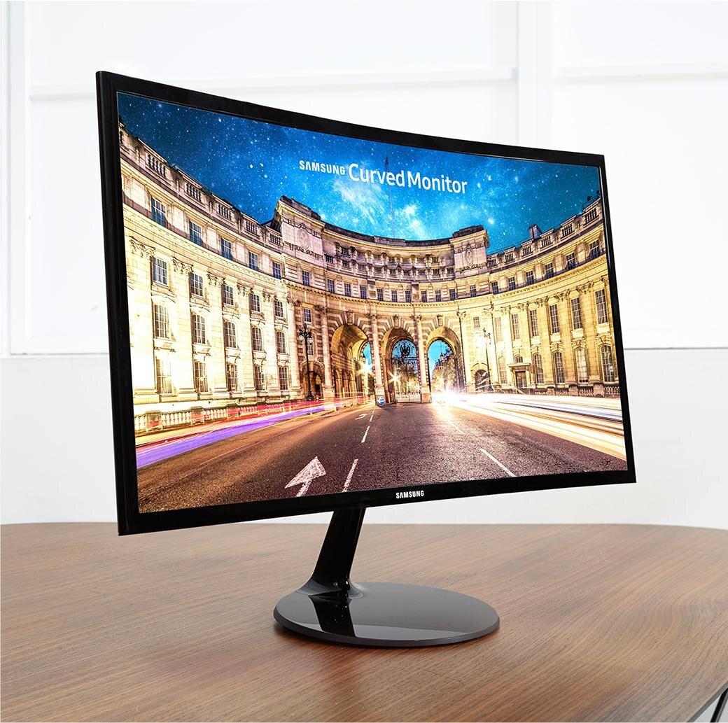 Màn hình máy tính Samsung LC24F390FHEXXV Curve sở hữu thiết kế cong