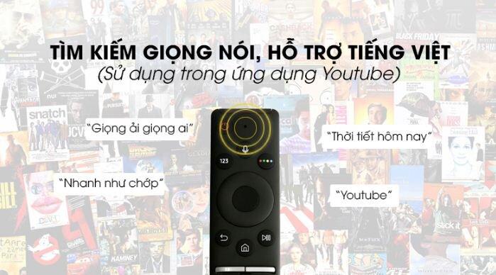 Có hỗ trợ tìm kiếm bằng giọng nói qua remote thông minh