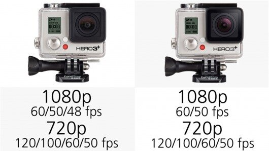 All of the GoPro Hero3+ or Hero4 Black and Silver camera can shoot Full HD 1080p video at ...