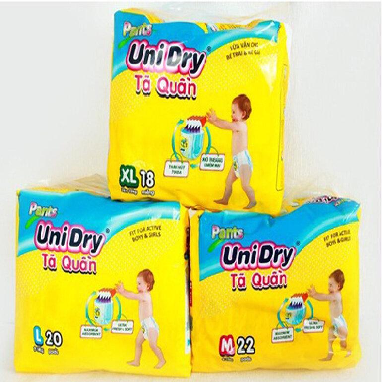 Bỉm quần Unidry có giá phải chăng