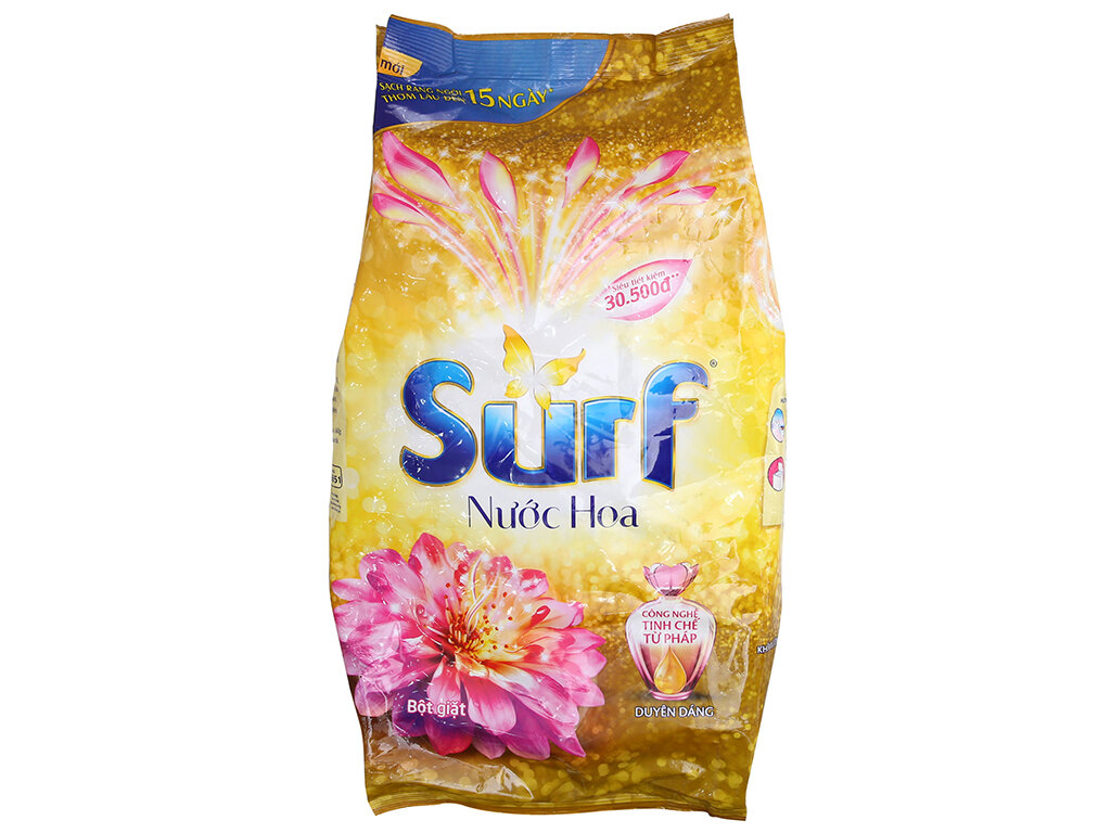 Hương nước hoa Pháp quyến rũ cùng công nghệ làm sạch vượt trội của Surf