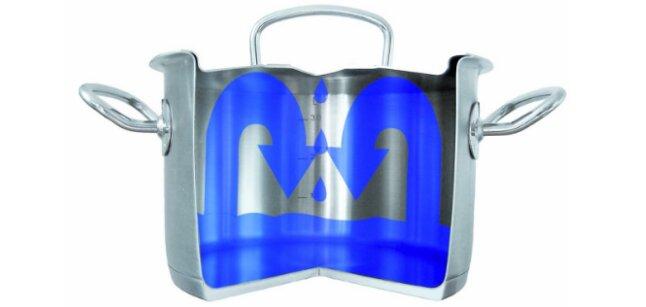 Nắp nồi Fissler Original Pro được thiết kế đặc biệt, đối lưu hơi nước, bảo toàn dinh dưỡng
